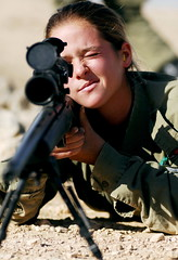 Female Soldier Aiming her Weapon (Israel Defense Forces) Tags: girls israel women soldiers israeli idf womensoldiers idfsoldiers israeldefenseforces groundforces girlsoldiers femalesoldiers infantryinstructors