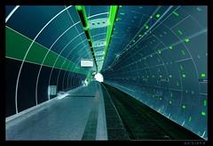 blue and green (sediama (break)) Tags: blue green germany subway geotagged essen metro pentax ubahn grün blau hdr photomatix altenessen k20d sediama unusualviewsperspectives igp76545678 ©bysediamaallrightsreserved