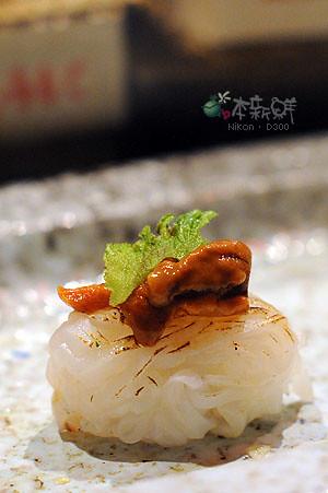 馬奮海膽花枝握壽司
