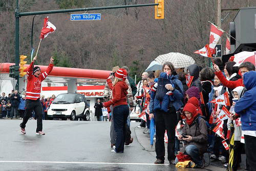 Olympic Torch in Lynn Valley, North Vancouver B.C. Feb 10 2010 -6