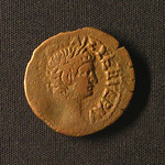 "<b>58 Obverse</b><br/> <a href=""http://en.wikipedia.org/wiki/Tiberius"" rel=""nofollow""><u><b>Tiberius</b></u></a> <i>Reign: AD14 - 37</i> Tiberius' mother divorced his father and remarried to Augustus in 39BC, making him stepson to Rome's first emperor and heir apparent after Augustus' death. He was a great general whose campaigns in the north laid the foundation for the Roman frontier. After the death of his son in AD23 it is said that his rule declined, eventually leading to self-imposed exile on the island of Capri until his death in AD37. His successor was his adopted grandson Caligula.  Donated by Dr. Orlando ""Pip"" Qualley<a href=""http://farm3.static.flickr.com/2684/4352108160_0922e8106c_o.jpg"" title=""High res"">∝</a>"