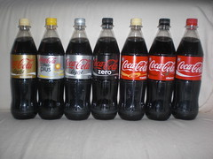 German 2010 coke line-up (Like_the_Grand_Canyon) Tags: pet germany bottle soft shot cola drink sweet beverage coke limo pop lemonade company german soda february product coca flasche fizzy februar limonade 2010 getrnk