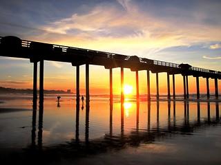 Sunset at the Pier, La Jolla , California Serenity