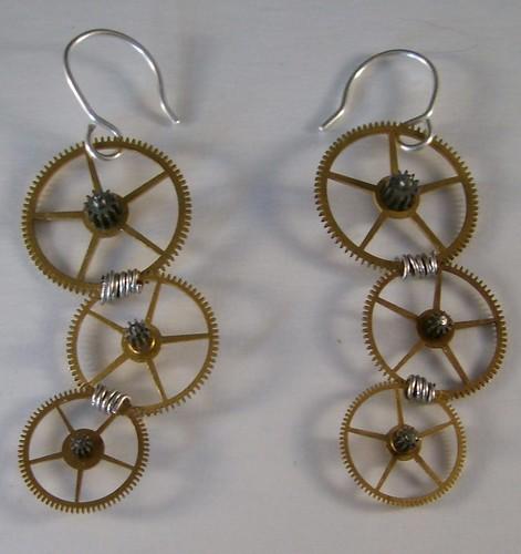 Steampunk Gears Earrings