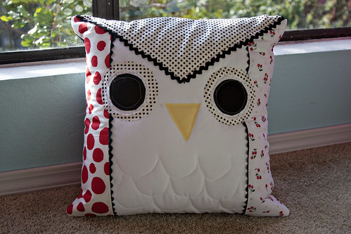 Owl Pillow - pillow talk swap