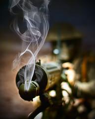 gun smoke conflict gatling iancarroll (Photo: Caza_No_7 on Flickr)