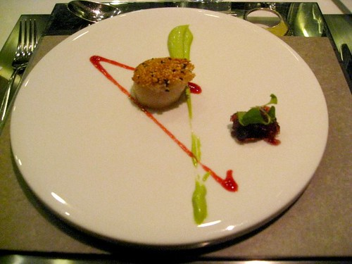 Bo Innovation - Hong Kong - January 2010 - Scallop, Kaffir Lime, Grapes