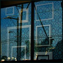 Window Squares (lefeber) Tags: california street city wallpaper urban reflection window losangeles frames windowdisplay telephonepole telephonewires marinadelrey