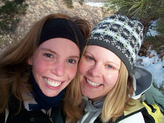 Hiking Arthurs Rock with my roommate Mandy