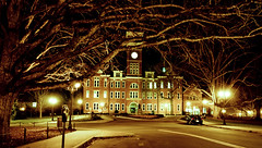 Clemson 320-62 (mloreti10) Tags: trip school orange tree sc beautiful night lights university day purple sony south carolina alpha tillman clemson a500