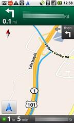 Nexus One, GMaps Navigation