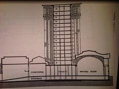 Side view of Michigan Central Station - plans (mcsdetroitfriend) Tags: railroad michigan detroit railway medical depot historical plans mcs cutaway michigancentralstation