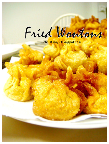 Home-cook: Deep Fried Wontons