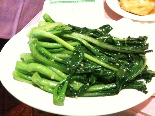 yummy Chinese vegetables stir fried with garlic