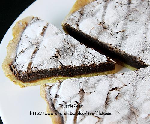 苦甜巧克力塔。Tarte au chocolat amer-100406