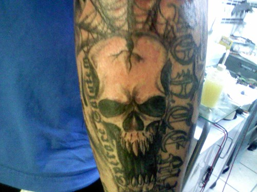 custom skull tattoo by sellfaust666. From sellfaust666