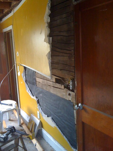 taking down the kitchen walls