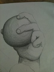 Ball in Hand (MyLoBe) Tags: pencil ball hand fingers drawings technique shading