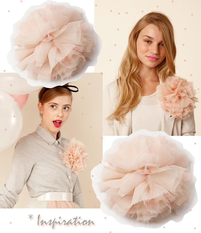 chiffon and tulle flower diy, wedding, French Pouf Inspiration board