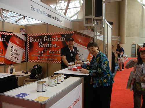 Pat Ford of Ford's Gourmet Foods (left) met with Foreign Agricultural Service (FAS) Associate Administrator Janet Nuzum while exhibiting at the SIAL Canada food trade show May 13. (Photo courtesy of FAS)