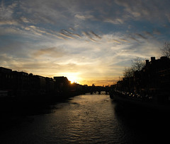 The Liffey Sunset. Dublin - Ireland