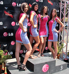 The ladies of LG (montreal_bunny) Tags: pink girls june canon downtown montreal models racing lg grandprix montrealgrandprix g12 2011 formula1racing canonpowershotg12