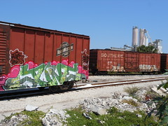 Classic freights and old school greats!! (FR8 ADDICT) Tags: june southern network alpha rumor fs wh traingraffiti eka dtt stv cnw bsk railroadart boxcarart gfrr freighttraingrafiti