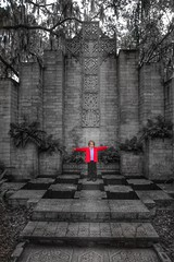 Place of worship 🙏 (PointOfUPhotography) Tags: architecture church outdoorchurch blackandwhite splash red oldchurch worship antique historical museam