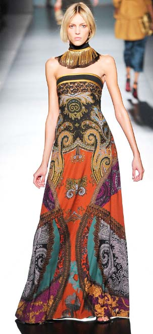 Etro gown paisley Fall 2009