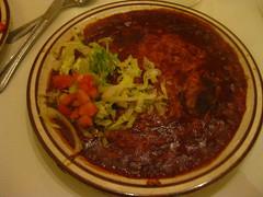 REAL red chile enchiladas (kittiegeiss) Tags: santafe yum enchiladas theshed redchile
