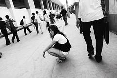 * (lyinker) Tags: street people bw woman station shanghai documentary railway