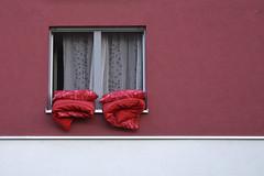 Ton in Ton (Nitekite) Tags: red rot window canon rouge bett fenster cologne kln bettwsche plumeau klnzollstock bettenlften colorphotoaward impressedbeauty flickrdiamond cmwd cmwdpink nitekite