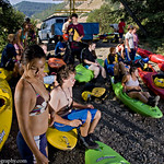"""The Kayak Class at the put-in <a style=""""margin-left:10px; font-size:0.8em;"""" href=""""http://www.flickr.com/photos/25543971@N05/4053377303/"""" target=""""_blank"""">@flickr</a>"""