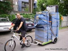 Déménageur à vélo