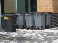 UCF Toters with 4 wheels (FormerWMDriver) Tags: trash garbage can bin rubbish cart refuse recycle recycling carts sanitation toter