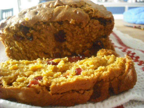 Pumpkin Bread with Cranberries