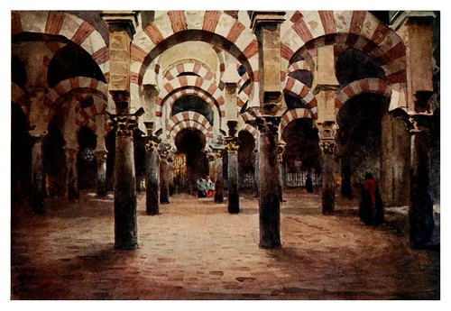 019-Córdoba-Interior de la Mezquita2-Cathedral cities of Spain 1909- W.W Collins