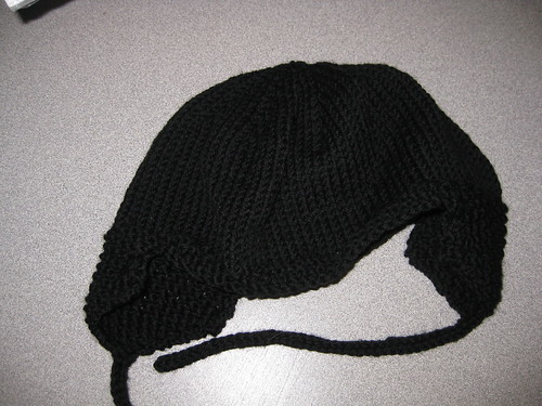 Gabe's ear flap hat