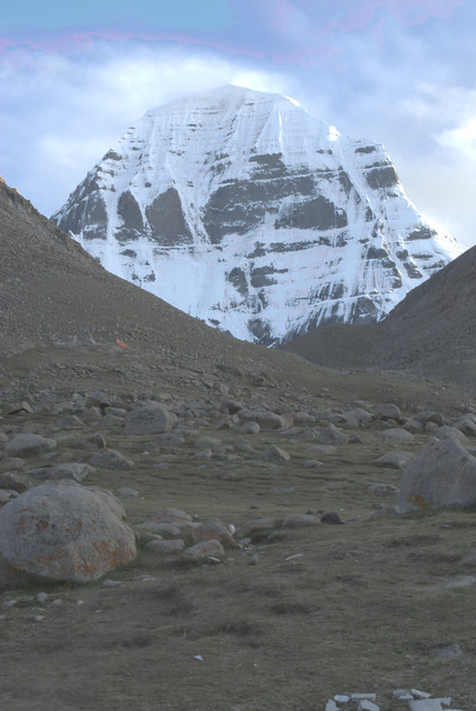 the Kailash, the sacred mountain of two religions, Buddhists and Hindus Tibet  4