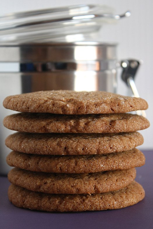 Sugar-Topped Spice Molasses Cookies - IMG_4855 1 2-3