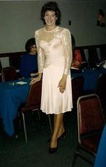 Laurette in 1987 (Laurette Victoria) Tags: triess retro laurettevictoria chicago chichapter woman laurette brunette dress