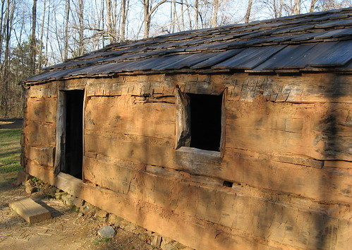 Replica of the first cabin they lived in