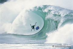 A surfer wiping out in very spectacular fashion at Waimea Bay, on the north shore of Oahu, Hawaii. (Sean Davey Photography) Tags: seawaveenergy seaswell greenpower oceanpower oceanenergy seawave wavesenergy oceanwavepictures oceanswell pictures wave