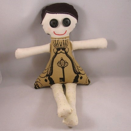 Skeleton Key fabric doll