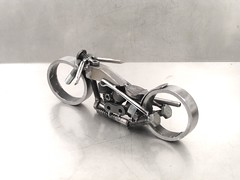 Metal Bike Sculpture for the Hellcats poker Run