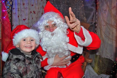 Milo Davison meets Santa