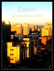 zhongguancun on my mind (Xuan Che) Tags: china city light orange sun color home 2004 sunrise dawn north beijing september canonixus400 zhongguancun