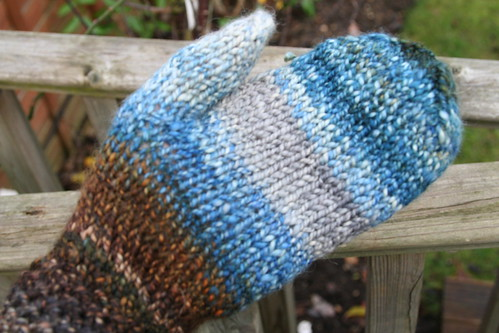 Night Sky handspun mittens
