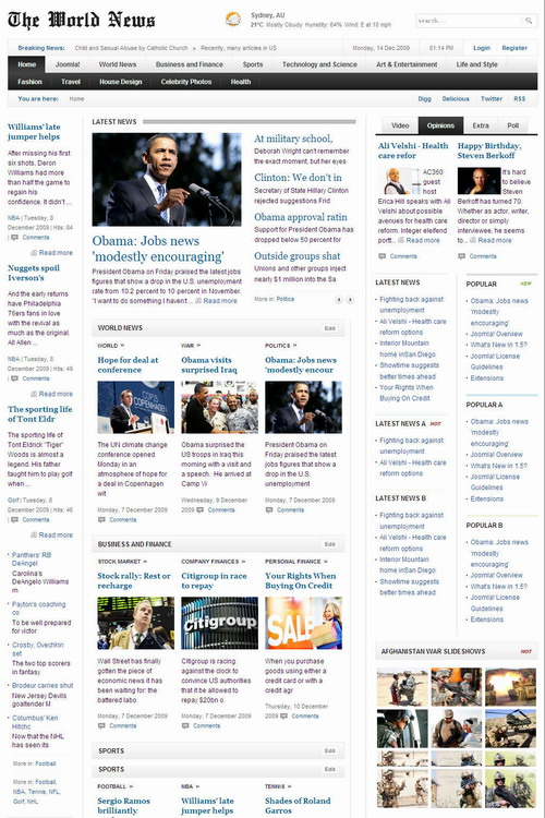 The World News v1.0.2 update   GavickPro Template