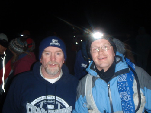 Dad and I at the Start